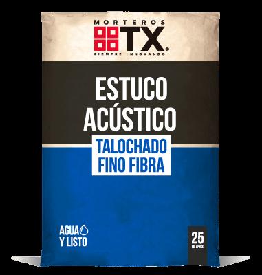 ESTUCO ACUSTICO TALOCHADO FINO FIBRA
