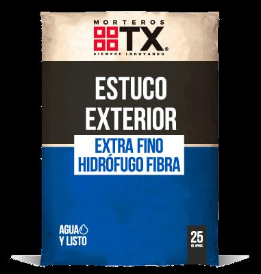 ESTUCO EXTERIOR EXTRA FINO HIDROFUGO FIBRA