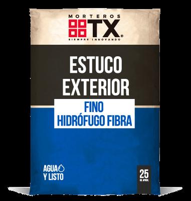 ESTUCO EXTERIOR FINO HIDROFUGO FIBRA