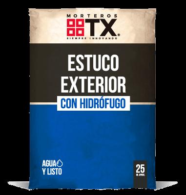 ESTUCO EXTERIOR CON HIDROFUGO