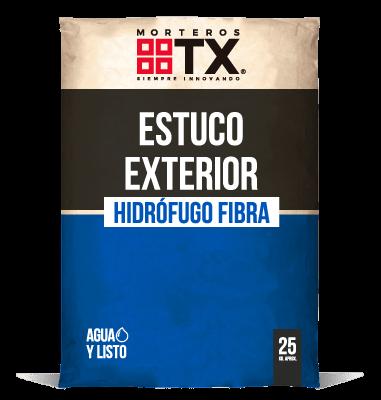 ESTUCO EXTERIOR HIDROFUGO FIBRA
