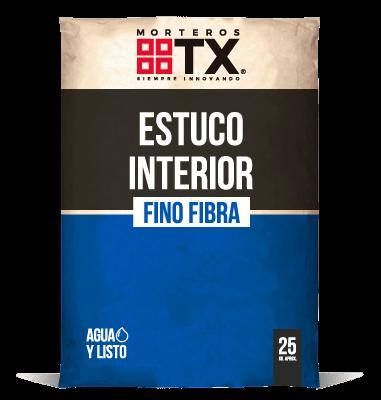 ESTUCO INTERIOR FINO FIBRA