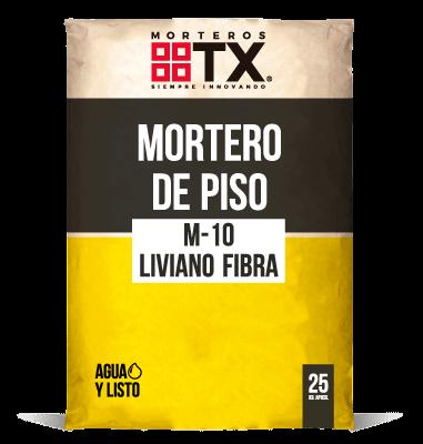 MORTERO DE PISO M-10 LIVIANO FIBRA