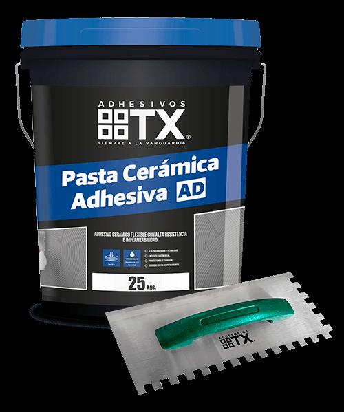 2 Pastas cerámicas adhesivas AD + Llana dentada 10mm