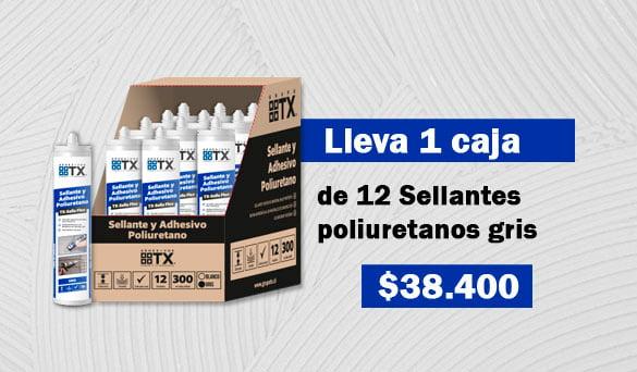 Caja de 12 unidades de Sellante poliuretano gris